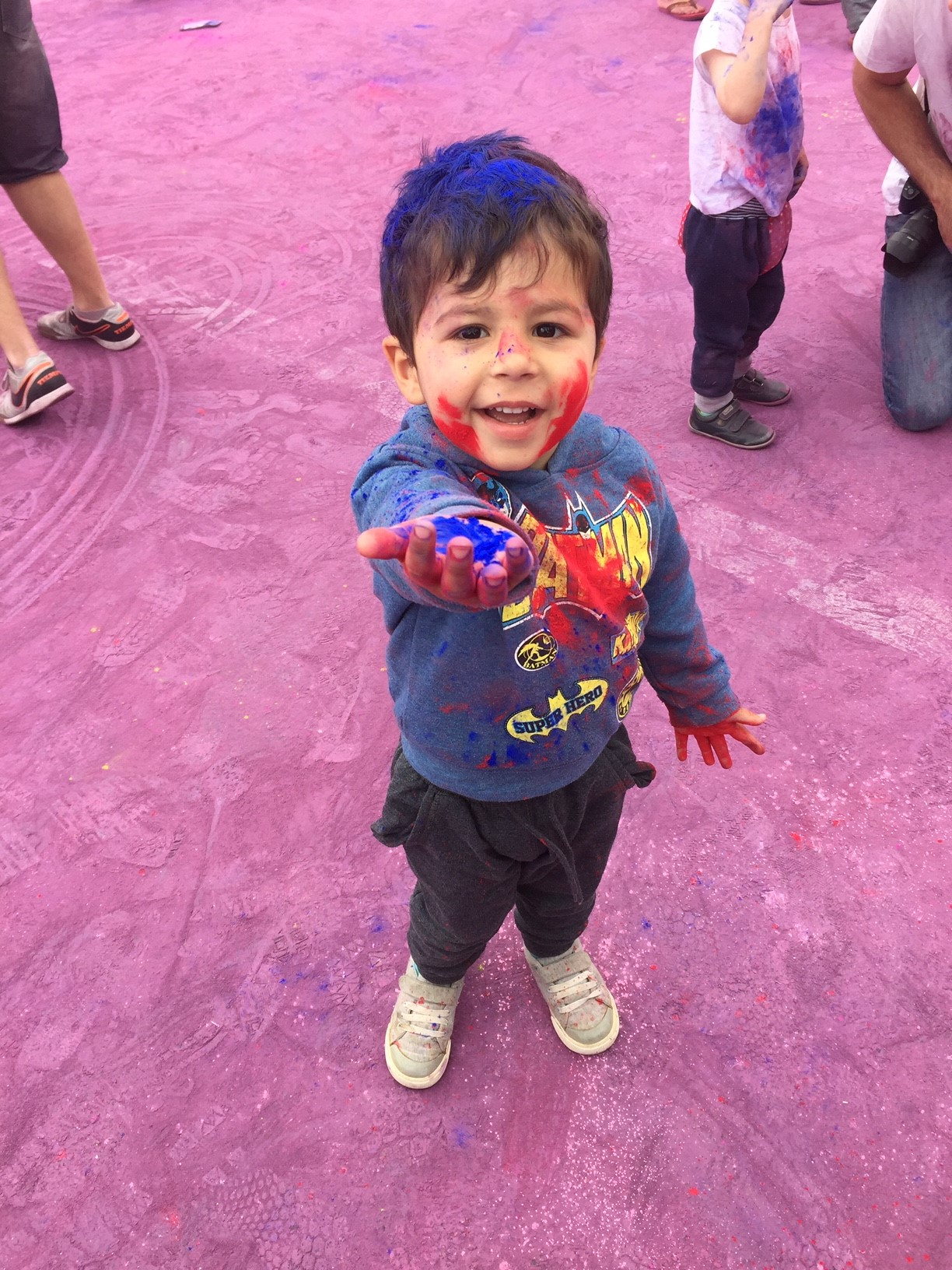 Sandeep's son celebrates Holi