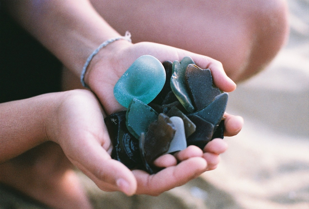 Sophie's sea glass collection