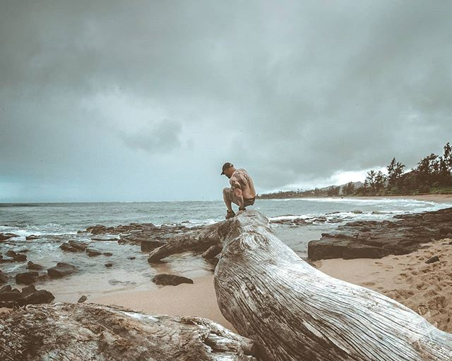 Where Ever I May Roam - Never too old to climb on stuff. Exploring the tide pools on a stormy looking day.  Sun on my skin and curiosity in my heart. . Check out soupcan13.com for prints . 📷Nikon D850-Sigma 15mm f2.8 . 💻post edit Lightroom . 🎧Tom Petty . . . . . . . . . . . . . . #MoodyGrams #visualambassadors #igtones #eclectic_shotz #ShotzDelight #CreativeOptic #milliondollarvisuals #trappingtones #reflectiongram #cc5k #yourshotphotographer #kauaiaswhy #kauaihawaii #photographyislifee #beach #hawaiistagram #kauailove #photography #photographylife #hawaii #gohawaii #photography📷 #photographyart #kauailife #beachlife #hawaiilife #travelphotography #kauai #kauaiphotographer