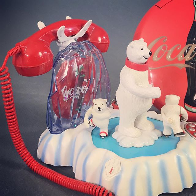 Less than three hours on this current timed auction. If you don't grab this phone for yourself, I may get it first. Lights! Music! Skating! #coca-cola #polarbear #vintagephone #cda #christmascalling