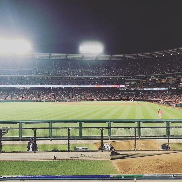 Great evening...Sitting behind the bullpen = ⚾️⚾️⚾️⚾️ @angels ❤️ #peanutsnballparks  @raysbaseball ❤️⚾️❤️ #baseballislife #baseball