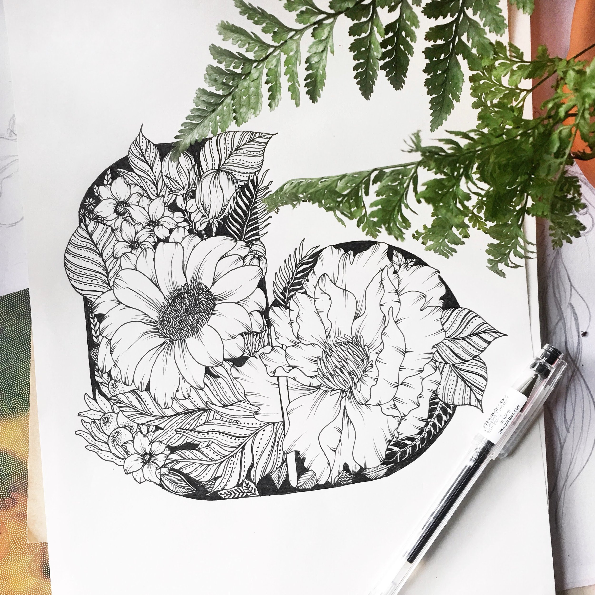 Combining typography and illustration. Done as part of the #BotanicalAtoZ series.