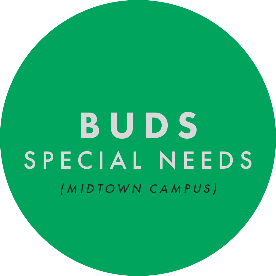 Buds is available at our Midtown Campus at our 9:45 service, and is a safe and secure place for our kids and students with significant special needs. Bible truths are presented and taught to our Buds in a smaller setting on their developmental level. If you have a child with special needs, we'd love for you to fill out the form below so we have information to more adequately serve your child.