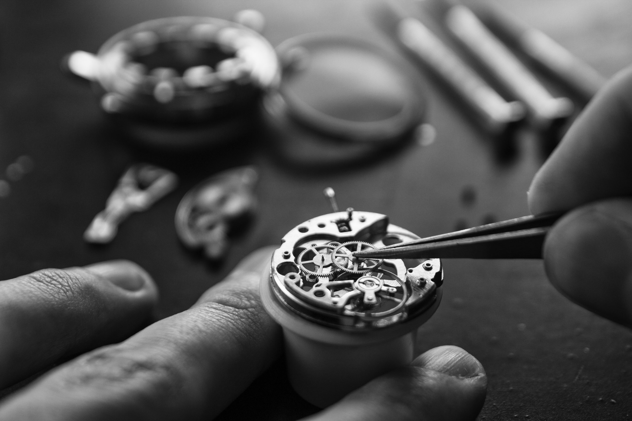 Watch Repair - Having an On-Site Watchmaker means we don't send your watch out. We service ALL major Swiss brands, inlcuding Rolex, Omega, Breitling, Tag Heuer, Cartier, Hamilton, Concord, Baume et Mercier, Rado, Gucci, etc.