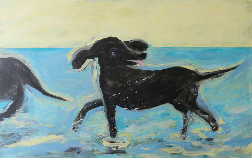Dogs on the Beach  (SOLD)