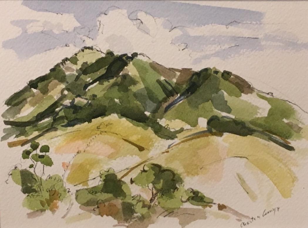 San Luis Mountain from Ferrini Heights