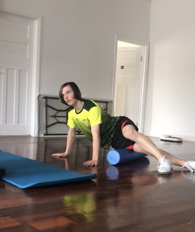 Foam rolling for the iliotibial band (ITB)