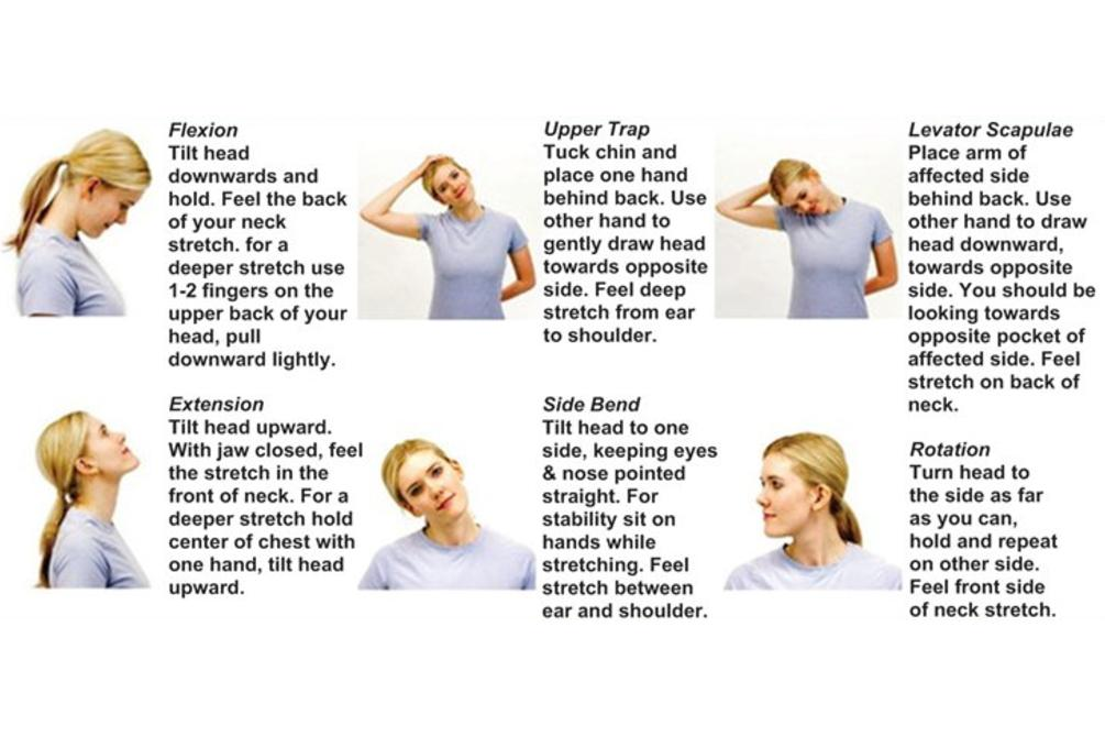 At home treatments and stretches to ease neck pain