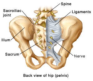 Common causes of SI joint pain, sprain, and dysfunction include ligament damage, joint fusion, which an differ in severity