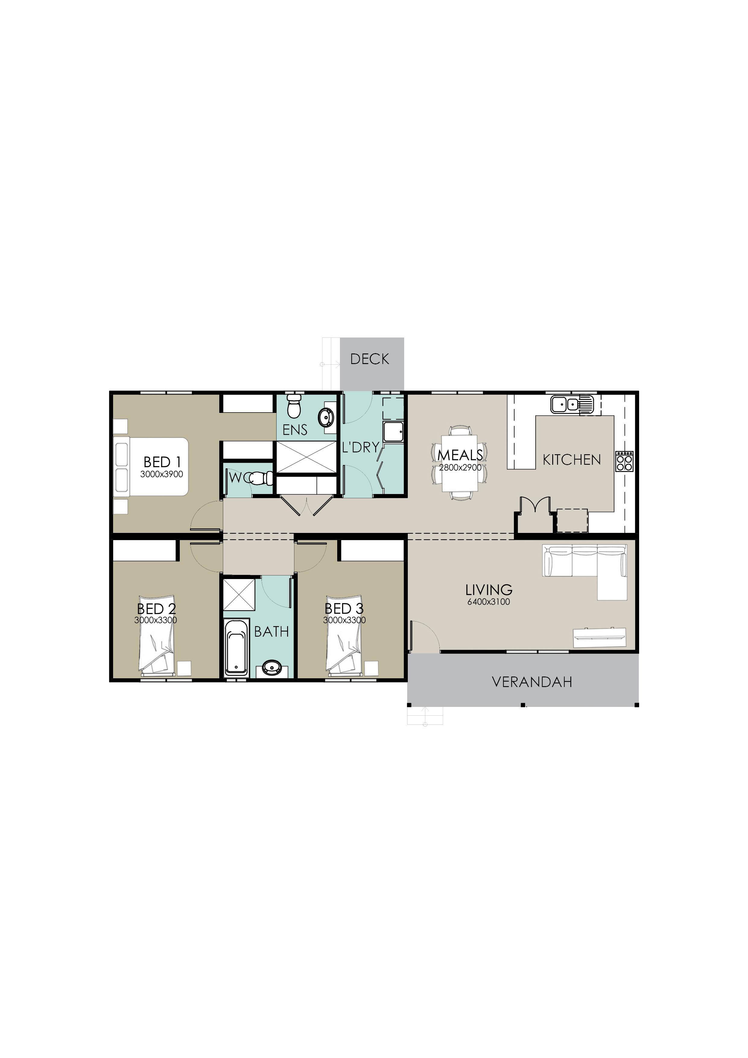 18m Lot Frontage 3 Bedroom Home Plans Richard Adams Homes