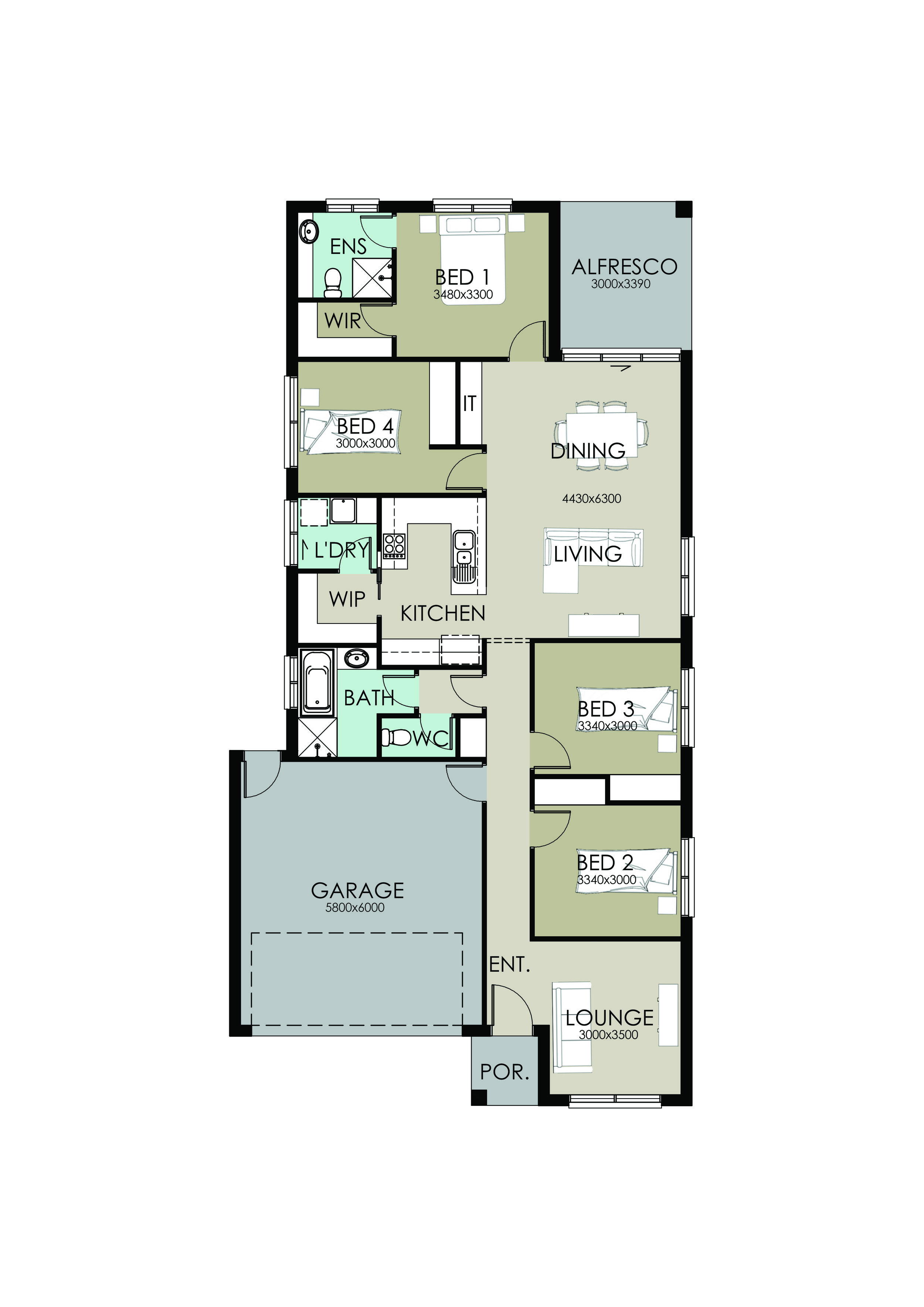 Alfresco 4 Bedroom Home Plans Richard Adams Homes
