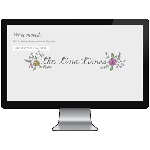 The Tina Times // Five Design Co. custom Squarespace website design portfolio