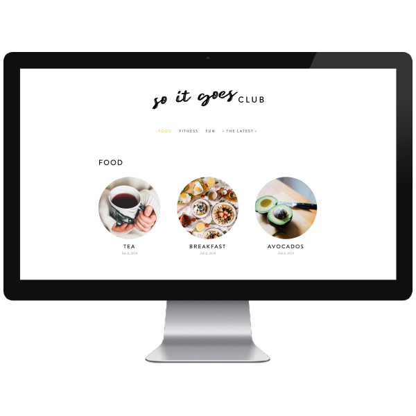So It Goes Club // Five Design Co. custom Squarespace website design portfolio