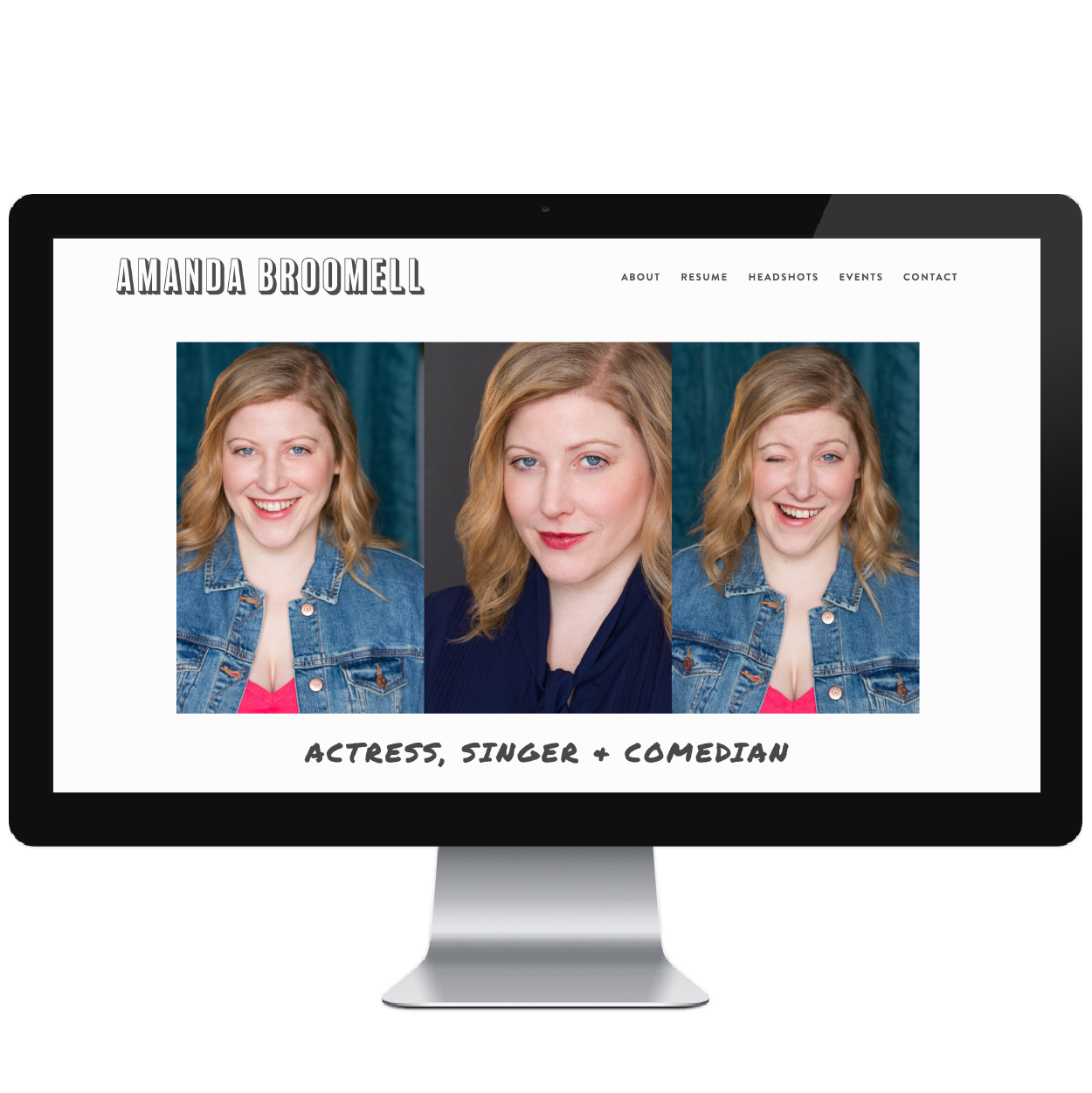 Amanda Broomell // Five Design Co. custom Squarespace website design portfolio