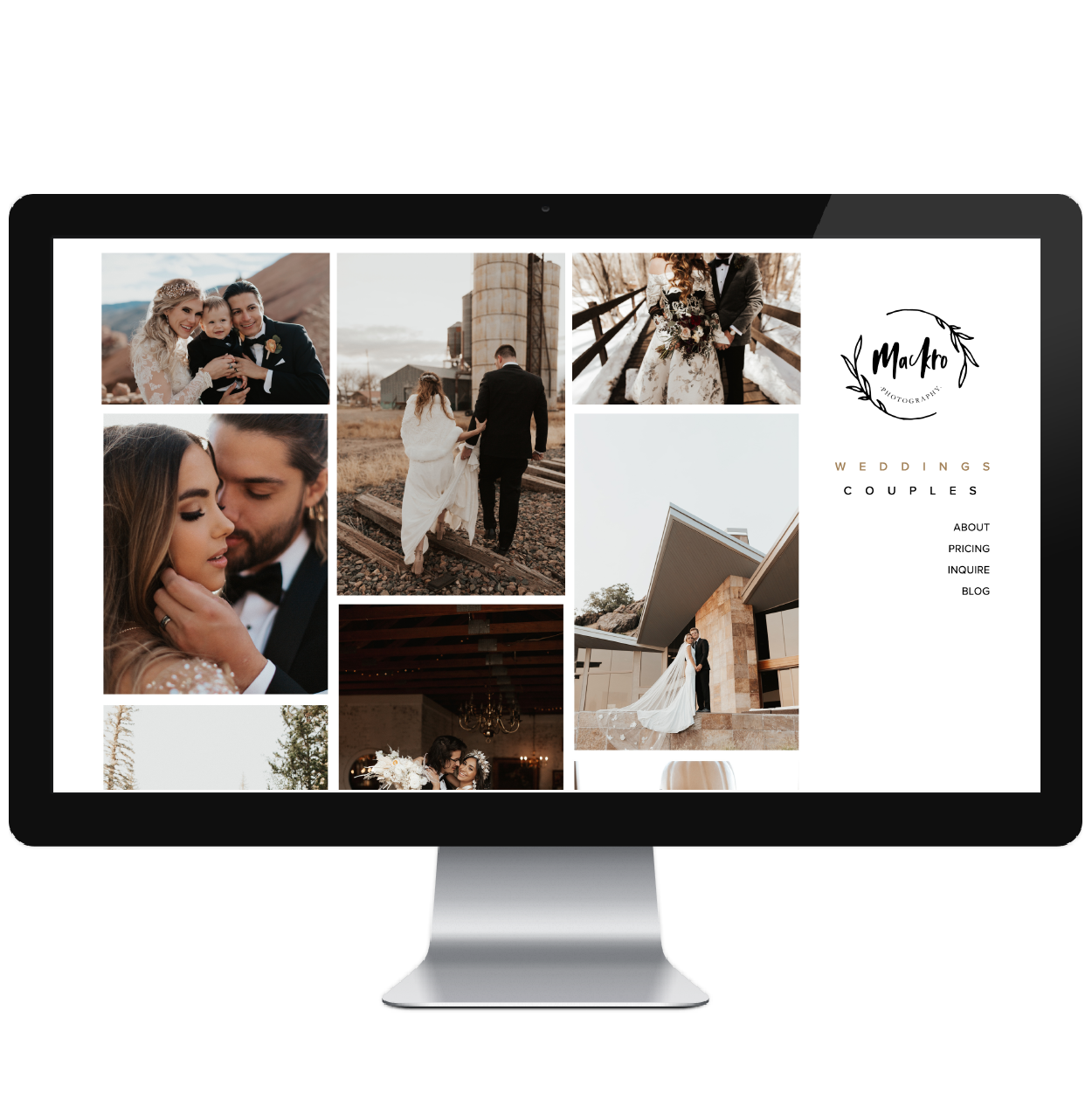 Mackro Photography // Five Design Co. custom Squarespace web design portfolio