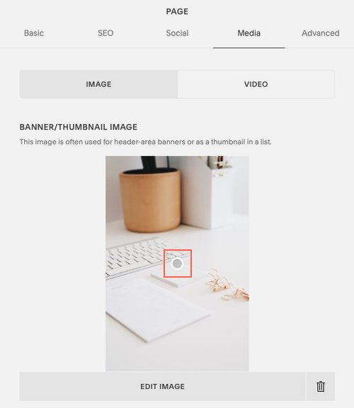 Adjust a banner or thumbnail image focal point in Squarespace // How to Make Your Website Mobile-Friendly // Five Design Co.