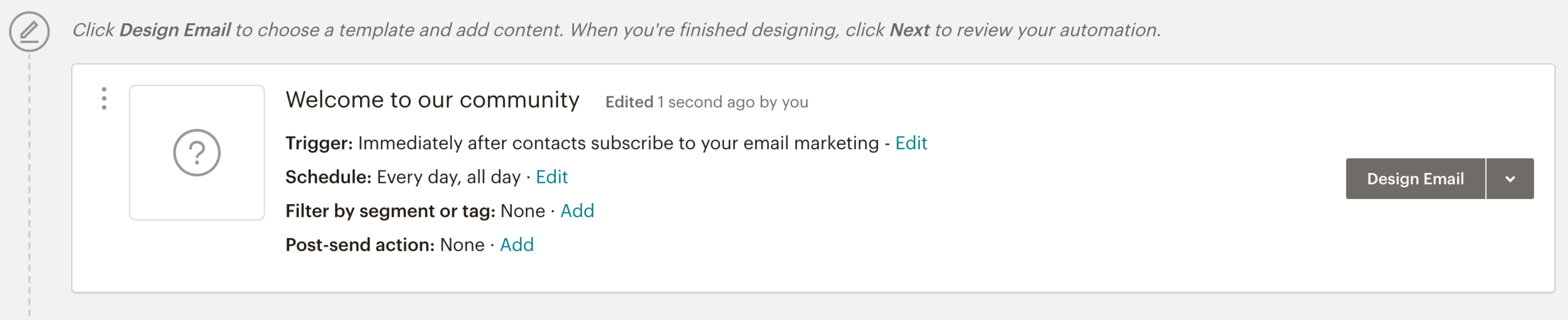 Create a Mailchimp onboarding email series // How to Set Up Your Email Welcome Automation in Mailchimp // Five Design Co. Squarespace web design, blogging and entrepreneurship tips and resources
