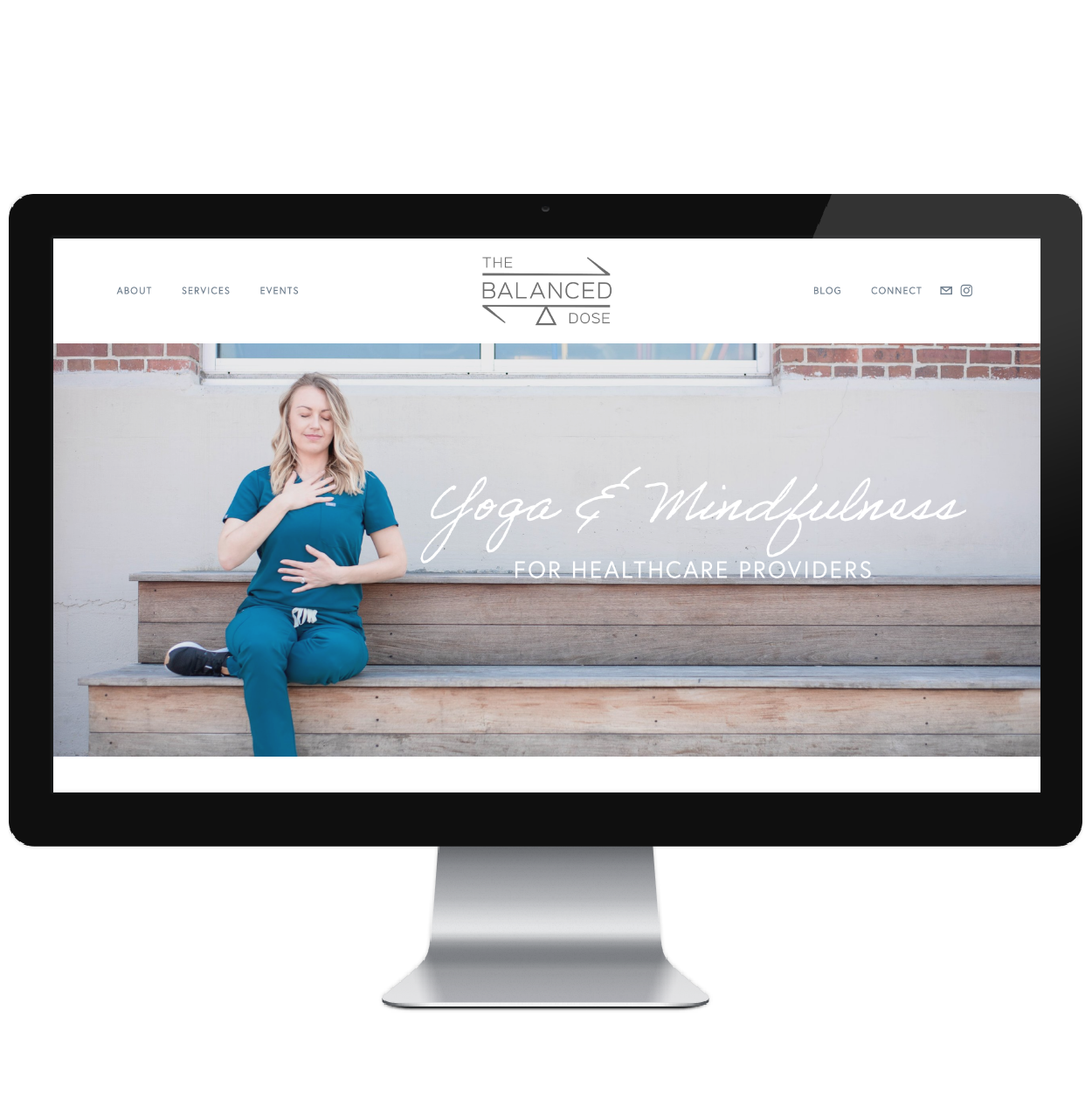 The Balanced Dose // Five Design Co. custom Squarespace web design portfolio