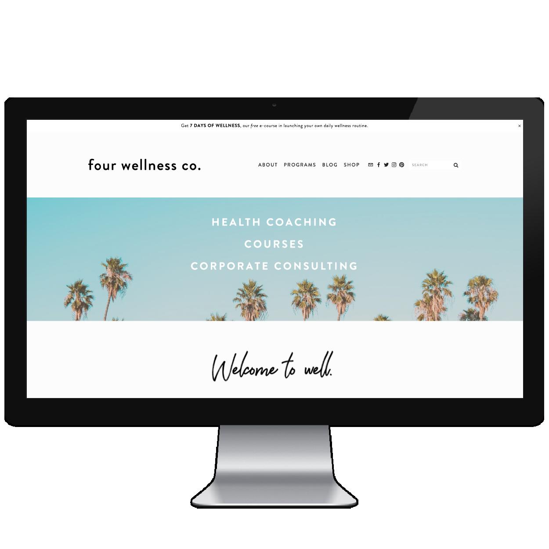 Four Wellness Co. // Five Design Co. custom Squarespace website design portfolio