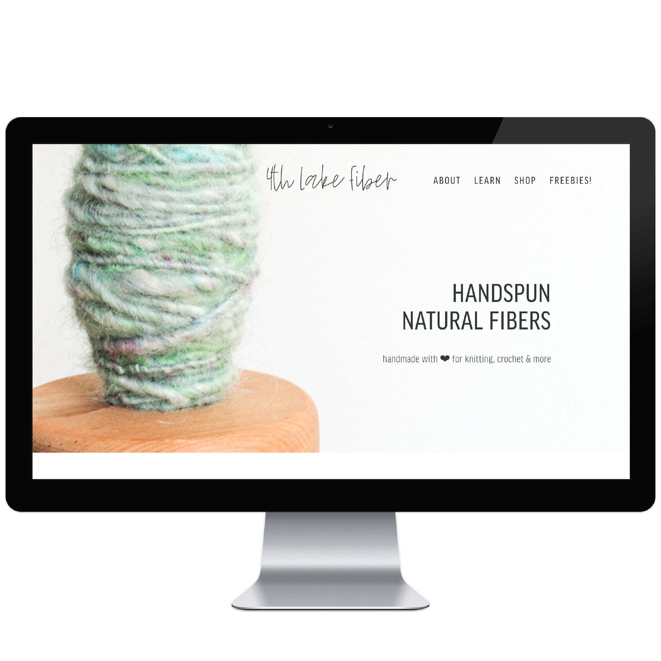 4th Lake Fiber // Five Design Co. custom Squarespace website design portfolio