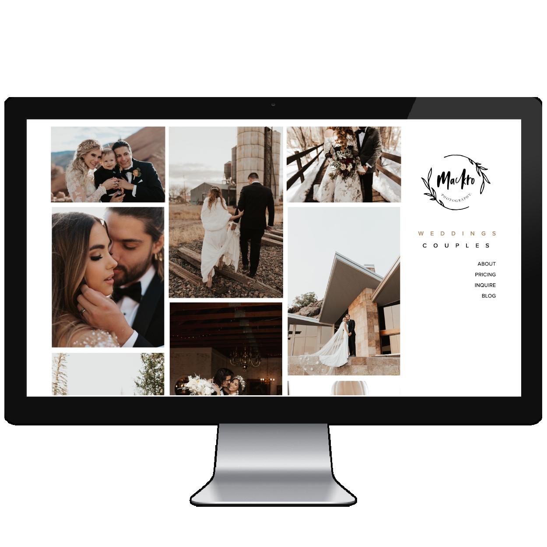 Five Design Co. portfolio // Squarespace web design & customization