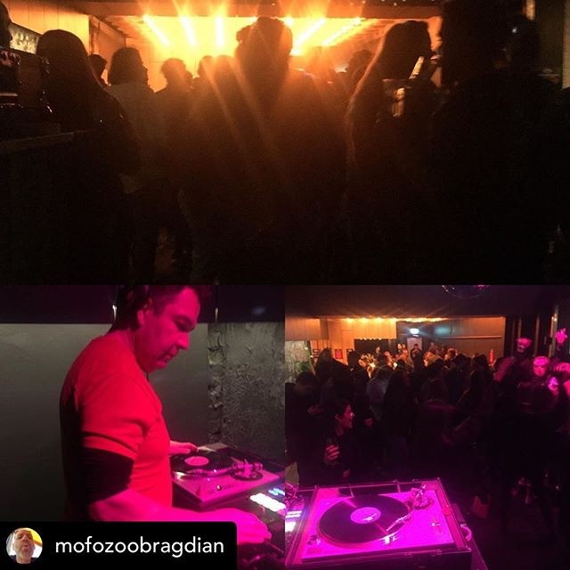 Posted @withrepost • @mofozoobragdian DJ Maarten Vlot from the Liquid Sunshine Soundsystem dropped by to spin s few tunes with me tonight 👊🏻 respect