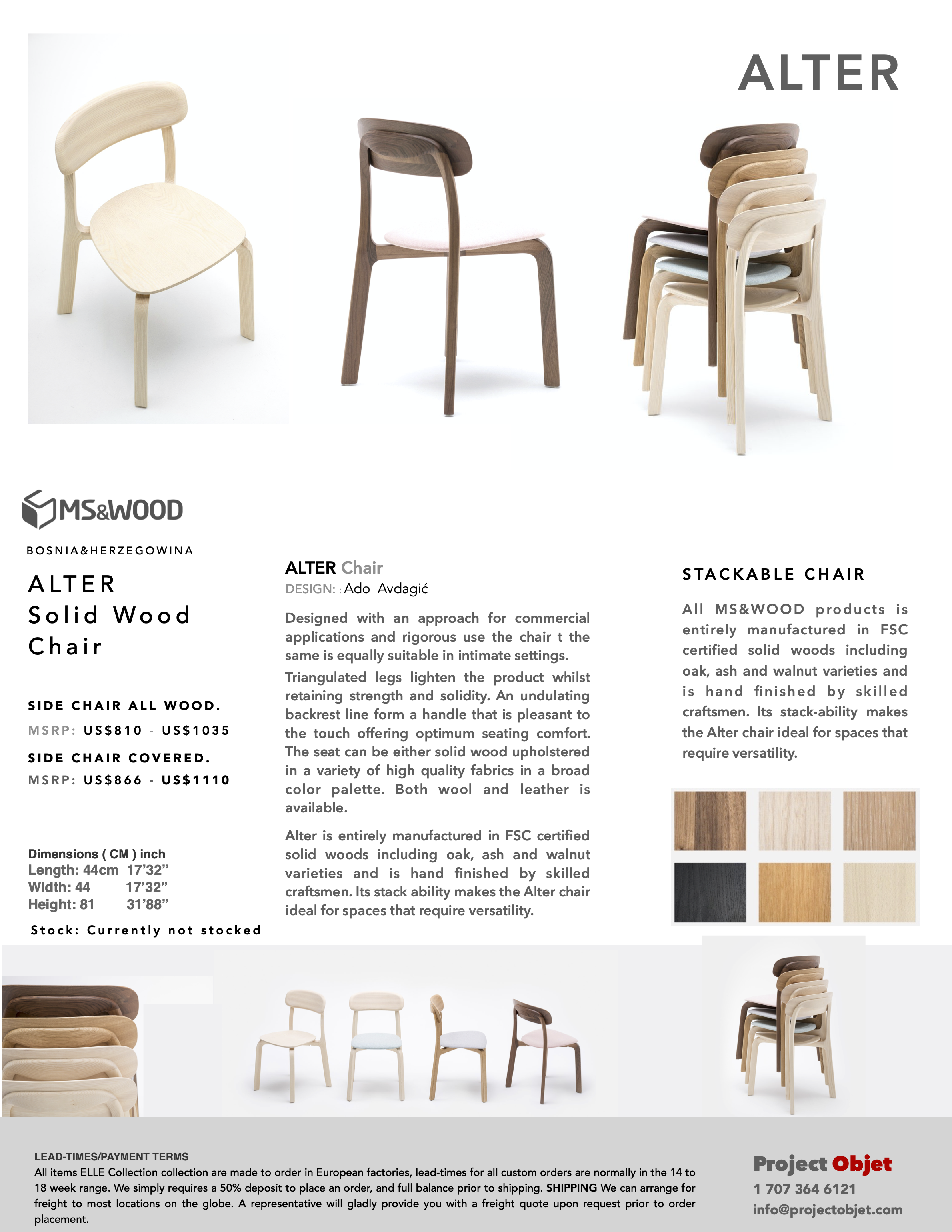Alter Chair Solid Or Covered Seat Projectobjet