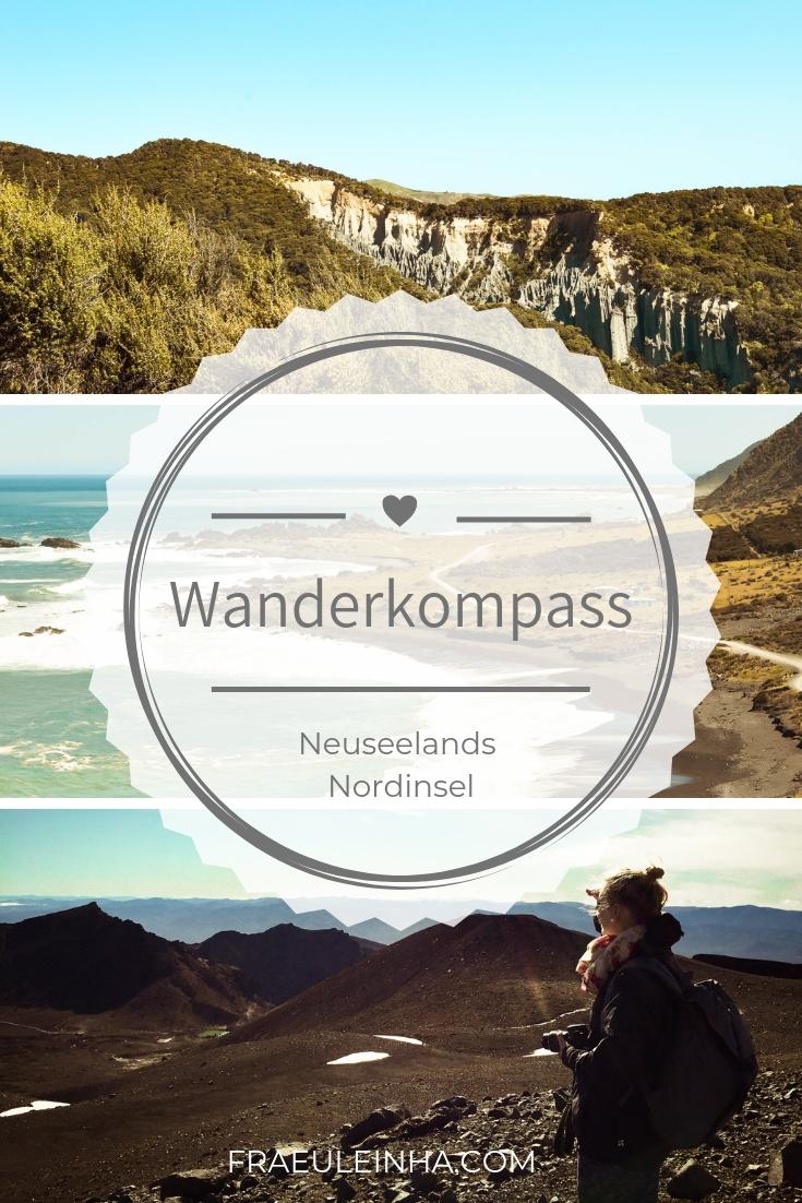 Pin mich für später! Wanderkompass für Neuseelands Nordinsel