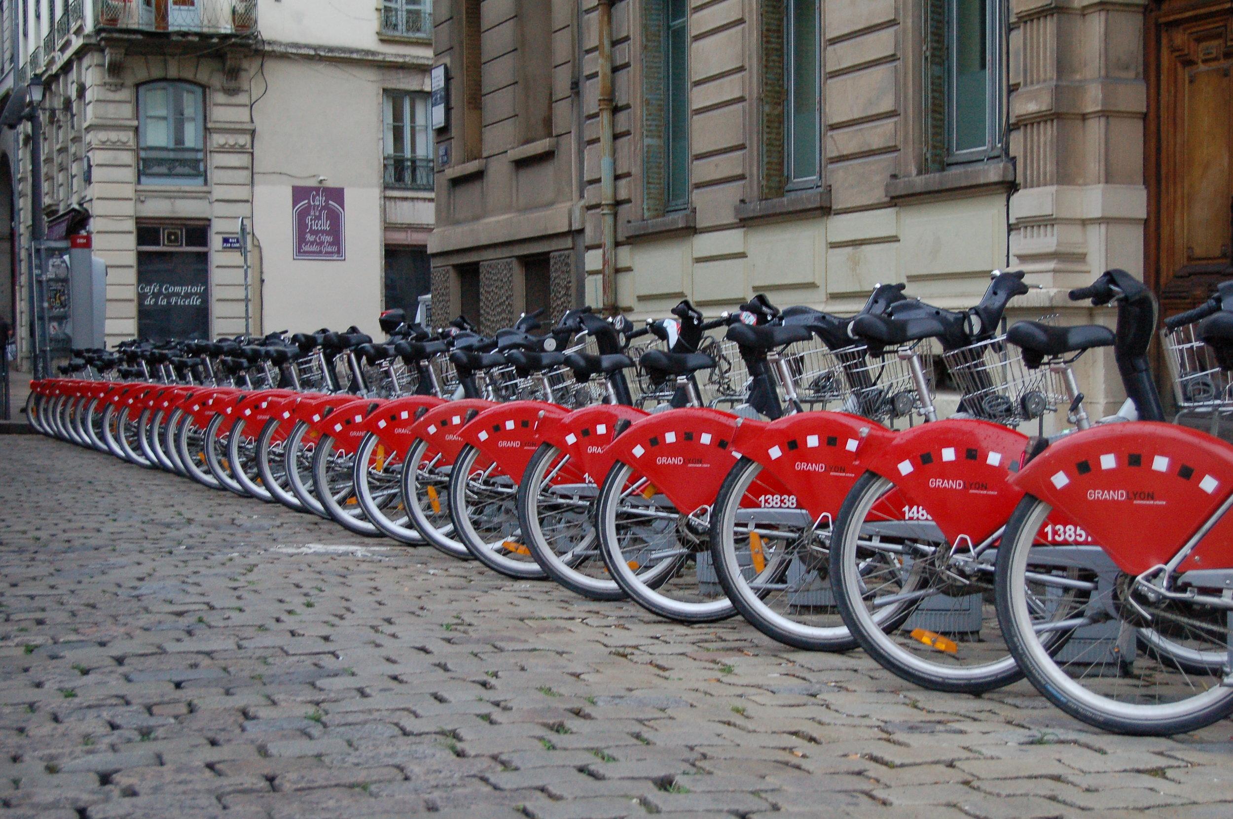 Fahrradverleih-Station Lyon