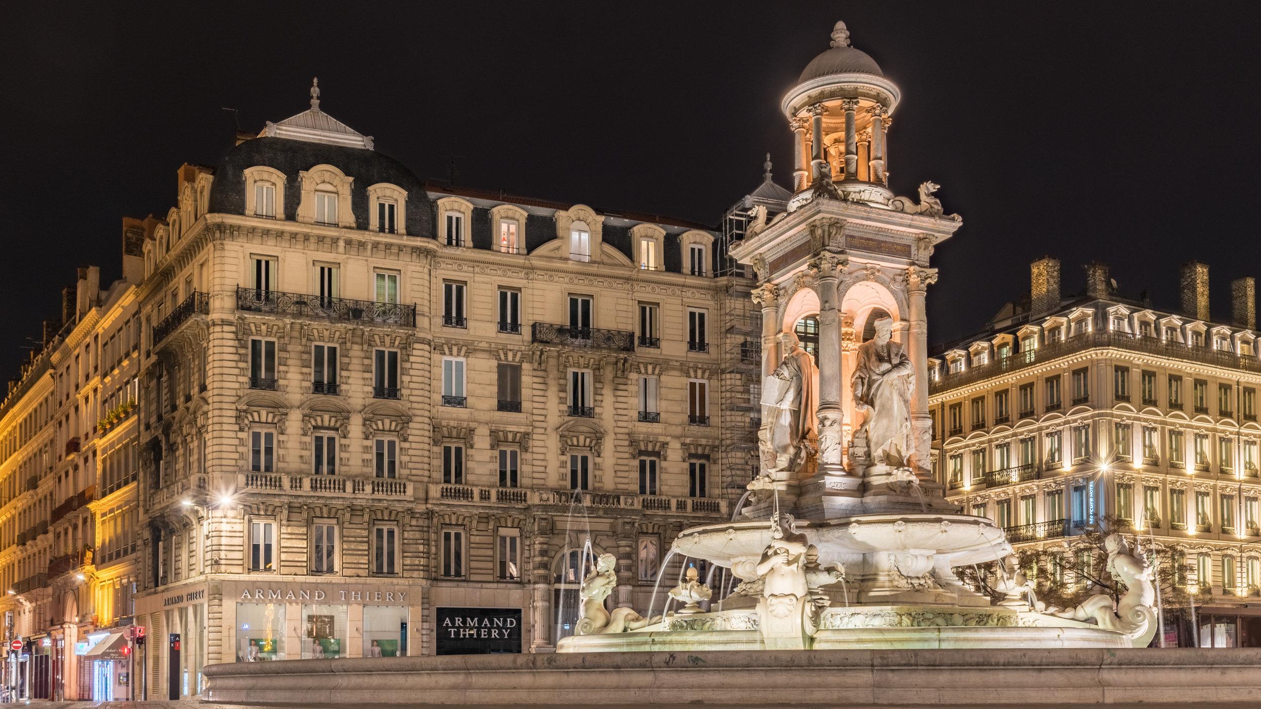 Frédéric Auguste Bartholdi Brunnen Place de Terraux, Lyon