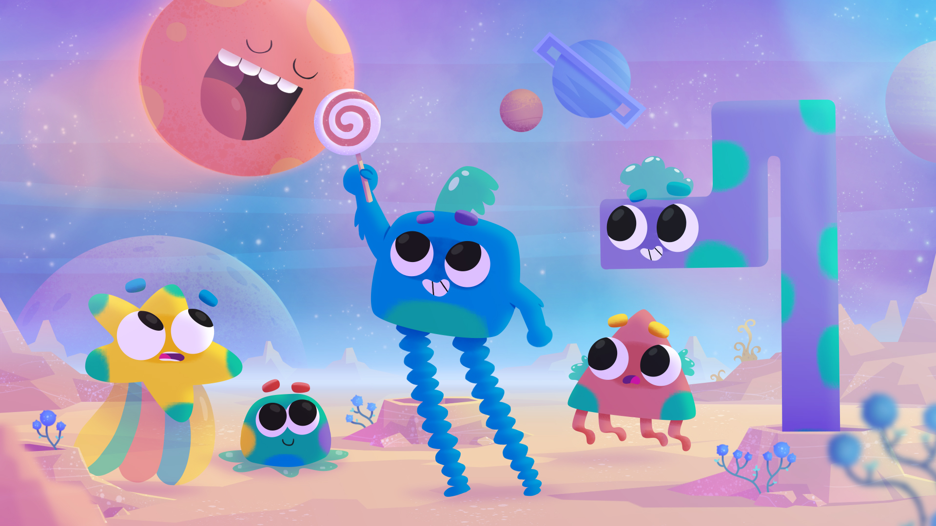 """What it's about: - """"Aleeums of Planet Park"""" is an exciting new preschool show in development at Pink Kong Studios. Somewhere on another galaxy, deep in space, live our heroes and Space Rangers, tasked with taking care of Planet Park– Space's very first National Park."""