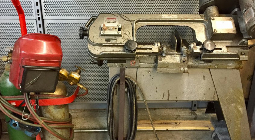 GAS TORCH AND BAND SAW