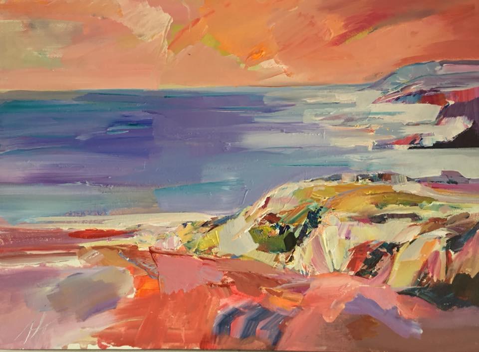 Almeria Coastline, acrylic on canvas