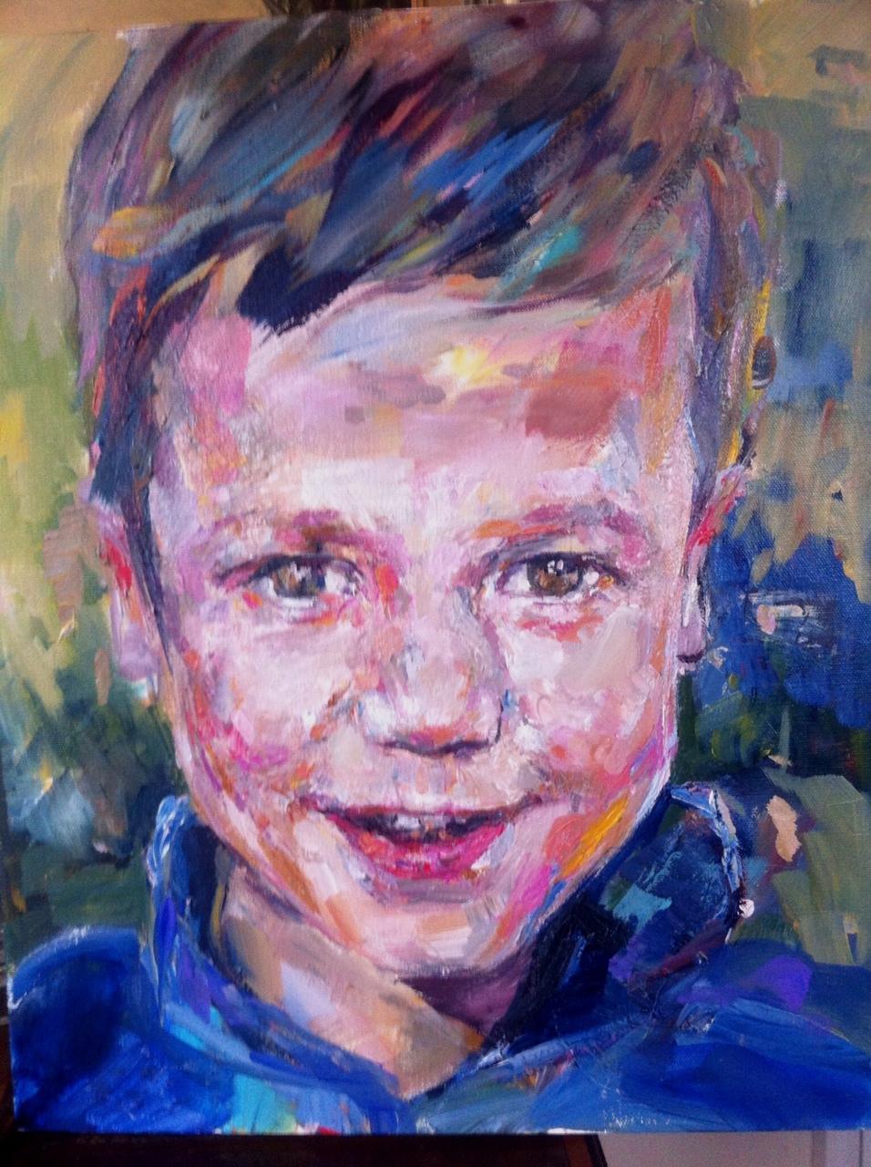 Peter, acrylic on canvas