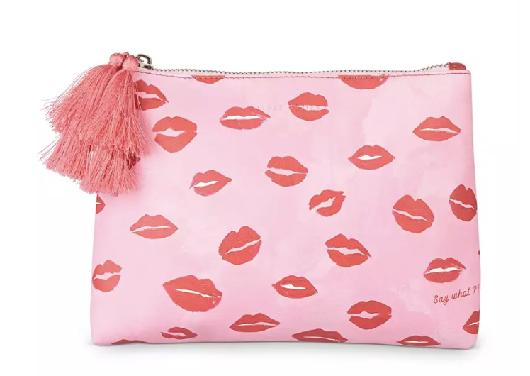 Say What Pink Tasselled Pouch - £22