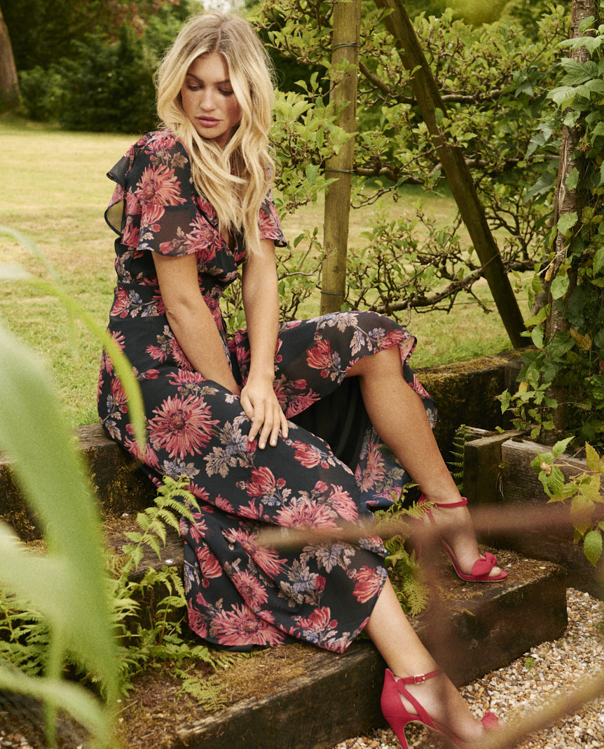 HOPE & IVY - Floral Wrap Maxi Dress, £16 to hire (£85 to buy)