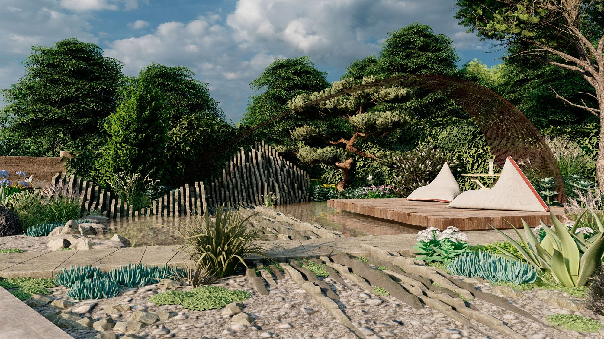 'The Facebook Garden: Beyond The Screen' At Chelsea Flower Show 2019