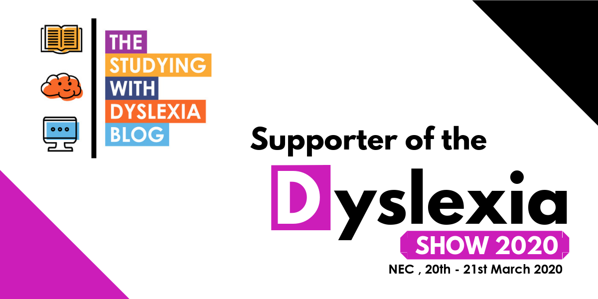 We are supporting the Dyslexia Show that is taking place in March 2020.