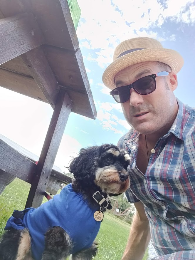 A summer photo for you from  John Hicks  and  Penny the Cockerpoo!