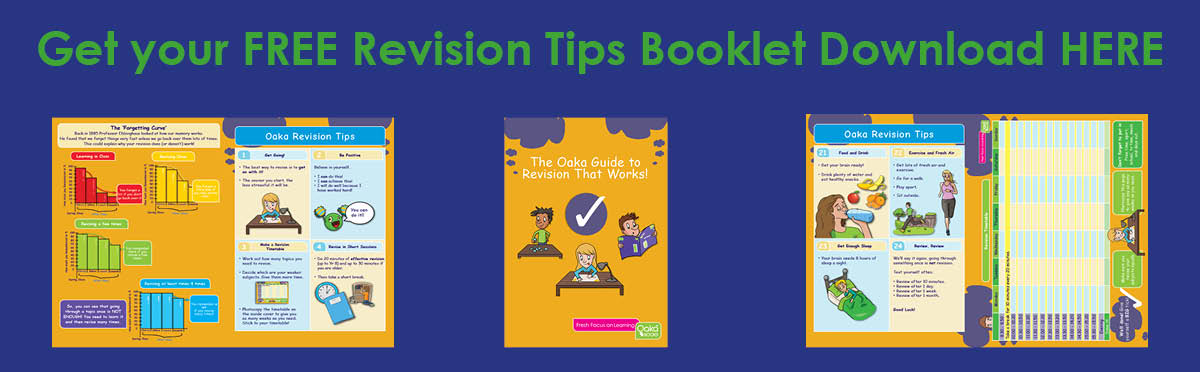 Click the banner to download this wonderful (and free) dyslexia friendly revision guide from Oaka Books.