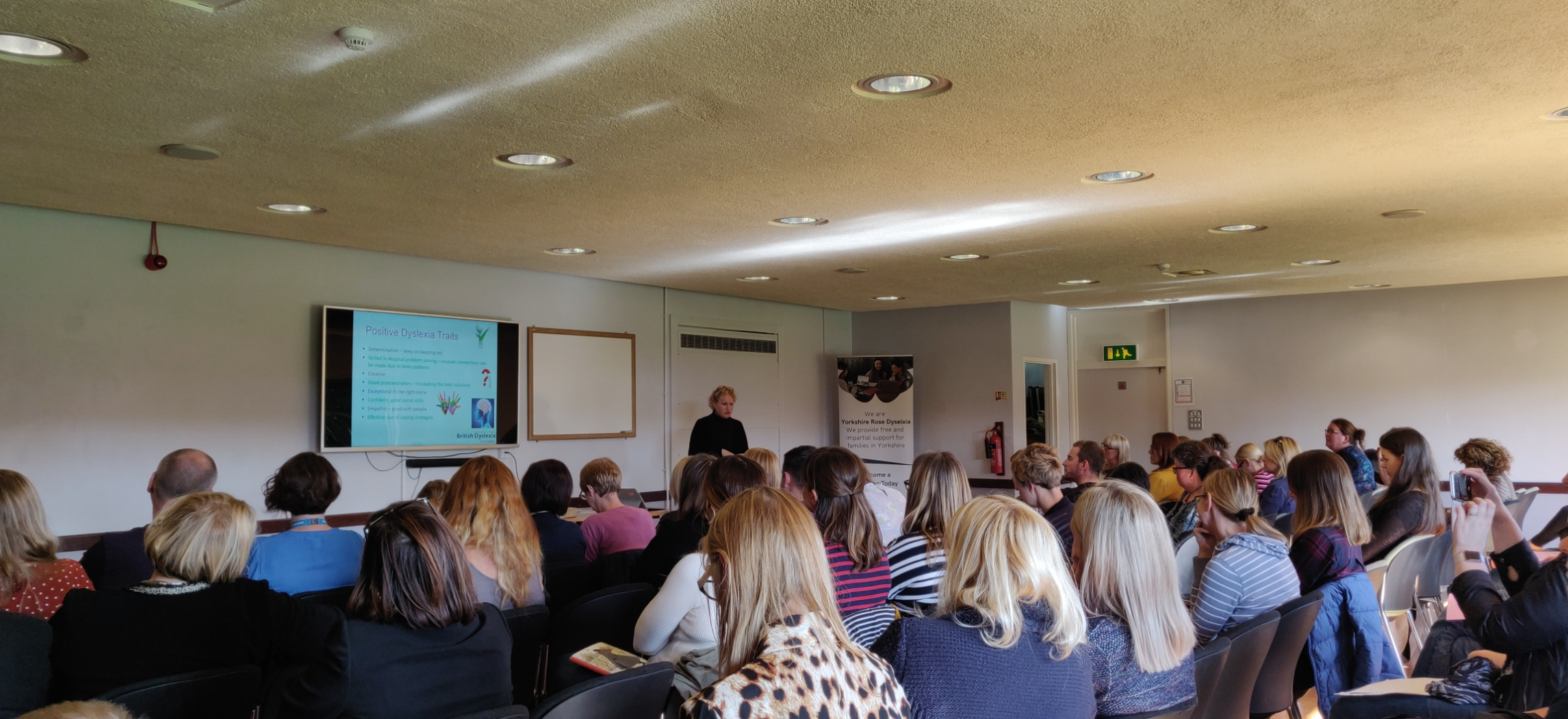 CEO of the BDA addressing parents of dyslexic children at the BDA Parent Roadshow, Pudsey, UK