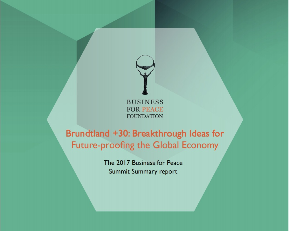 2017 Report  - Brundtland +30: Breakthrough Ideas for Future-proofing the Global Economy (click on image to view report)