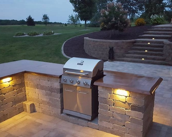 Hardscape Installation - Edging installations - brick, stone, plastic, metal, decorative stonePatio installations - brick, block, flagstoneRetaining wall construction - natural stone, concrete units, timberOutdoor Living Spaces