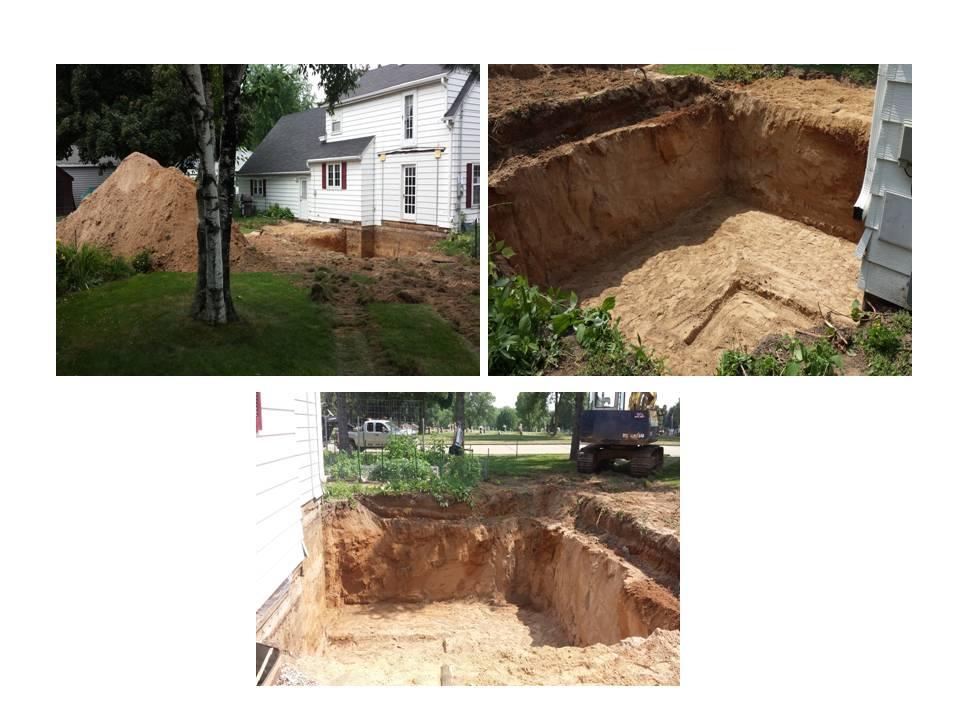 Home Addition Excavation