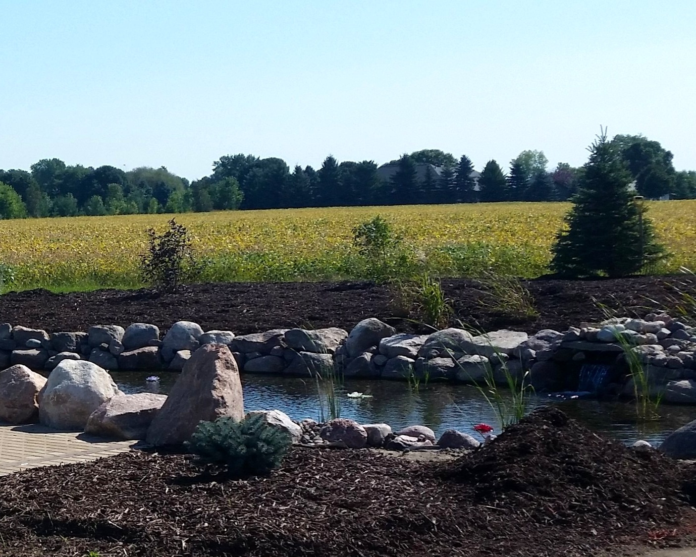 Landscape Installation - Looking to create your outdoor oasis? Plantings, water features, lighting, patios, retaining walls, and much more. Contact D & D Excavating & Landscape Service, Inc. today!
