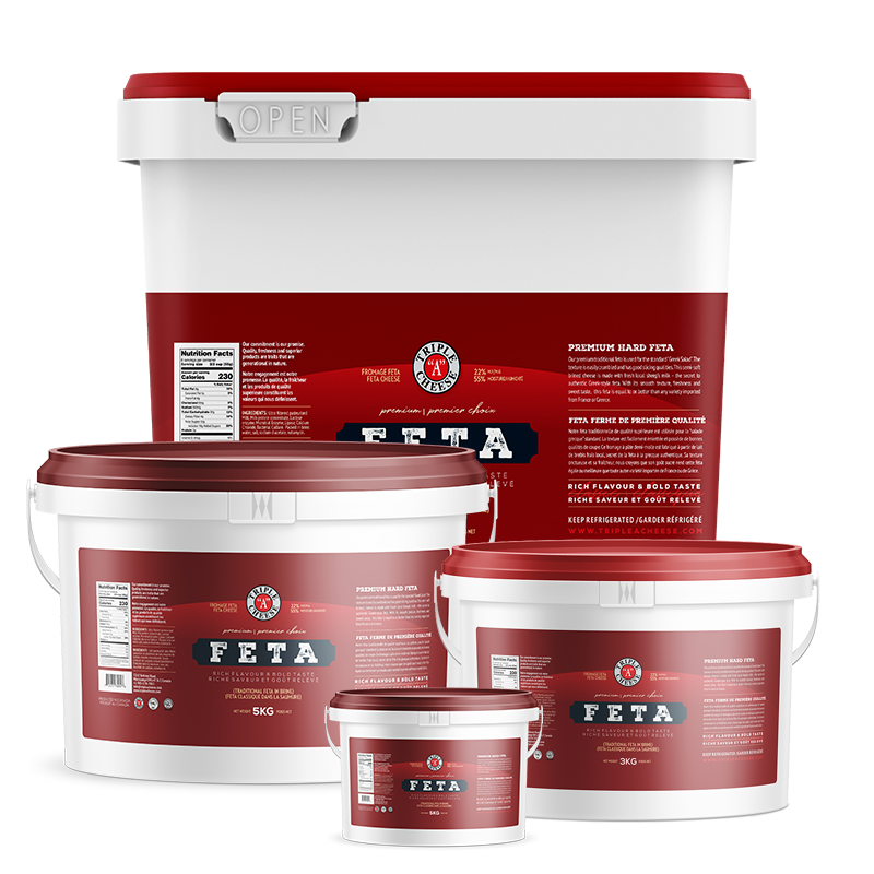 Triple A cheese - feta cheese products