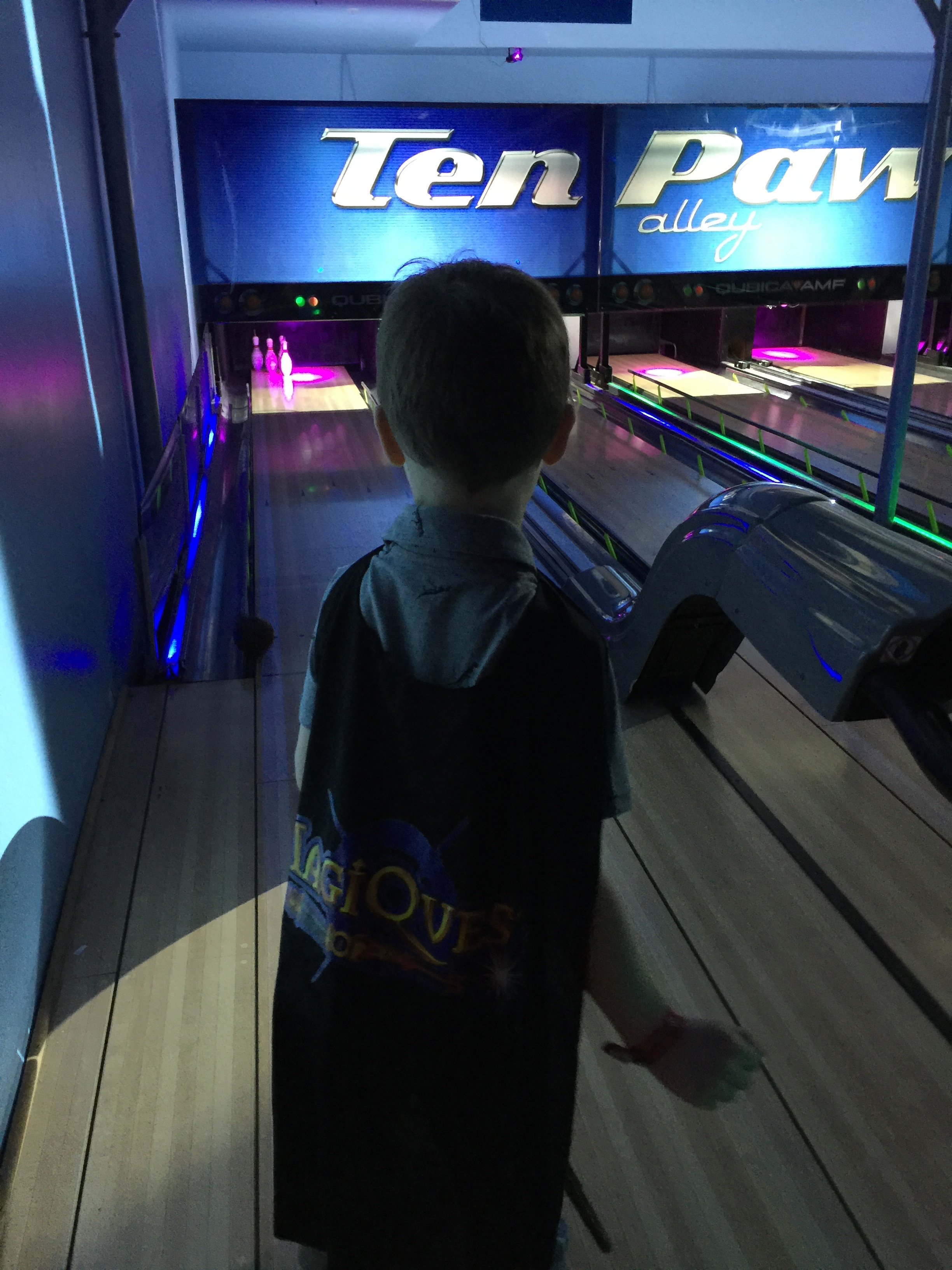 bowling is a fun activity for older children at Great Wolf Lodge