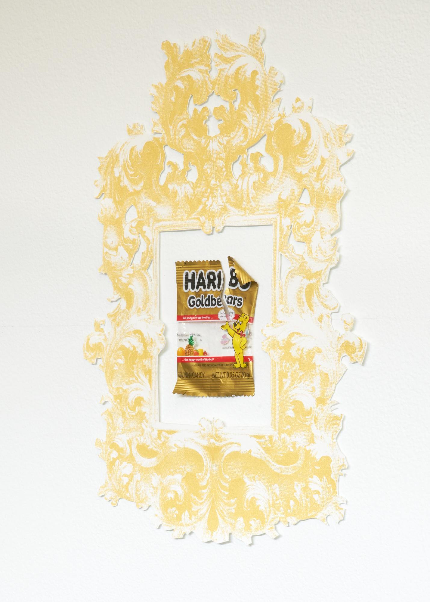 Framed Haribo bears wrapper detail