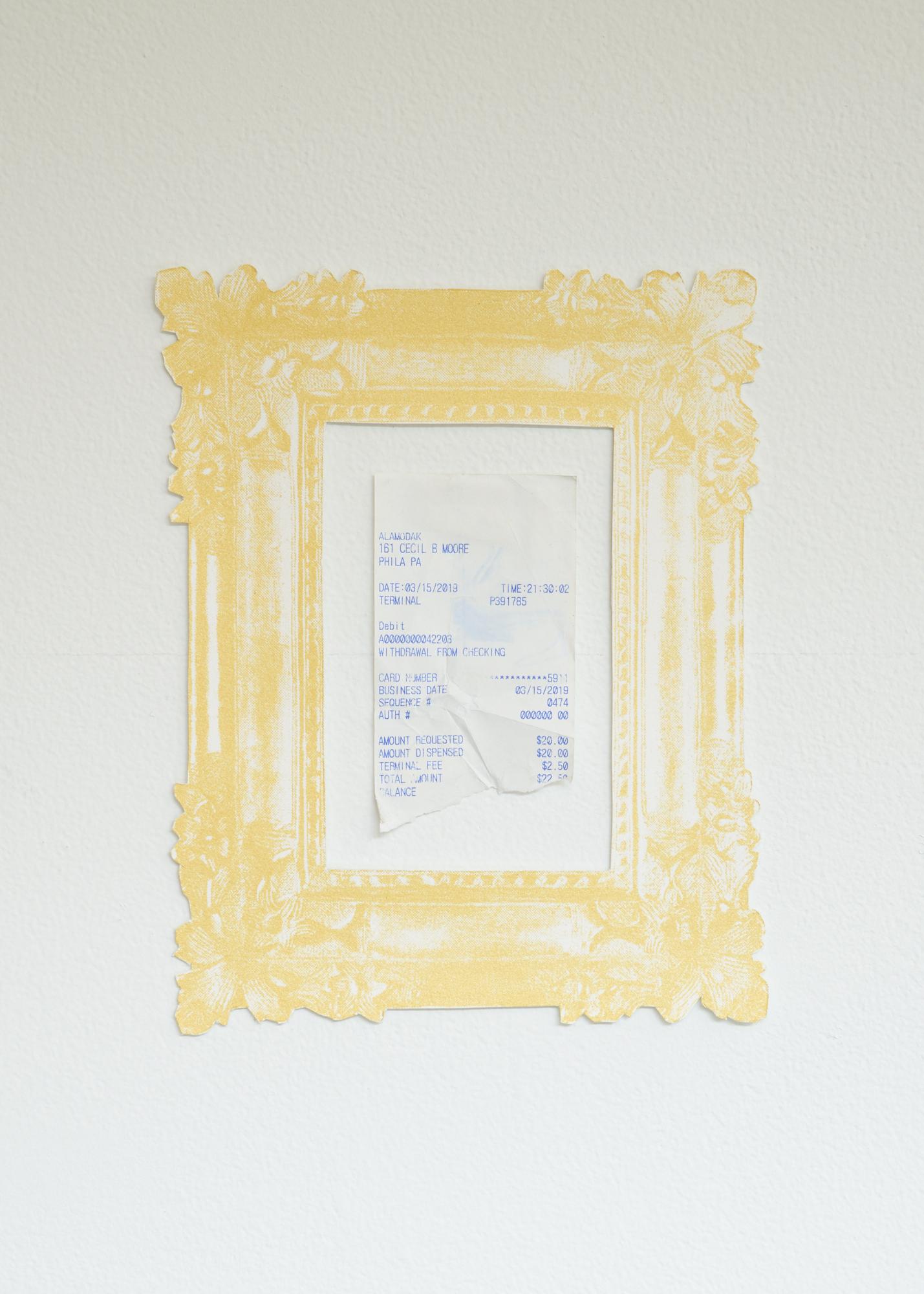 Framed receipt