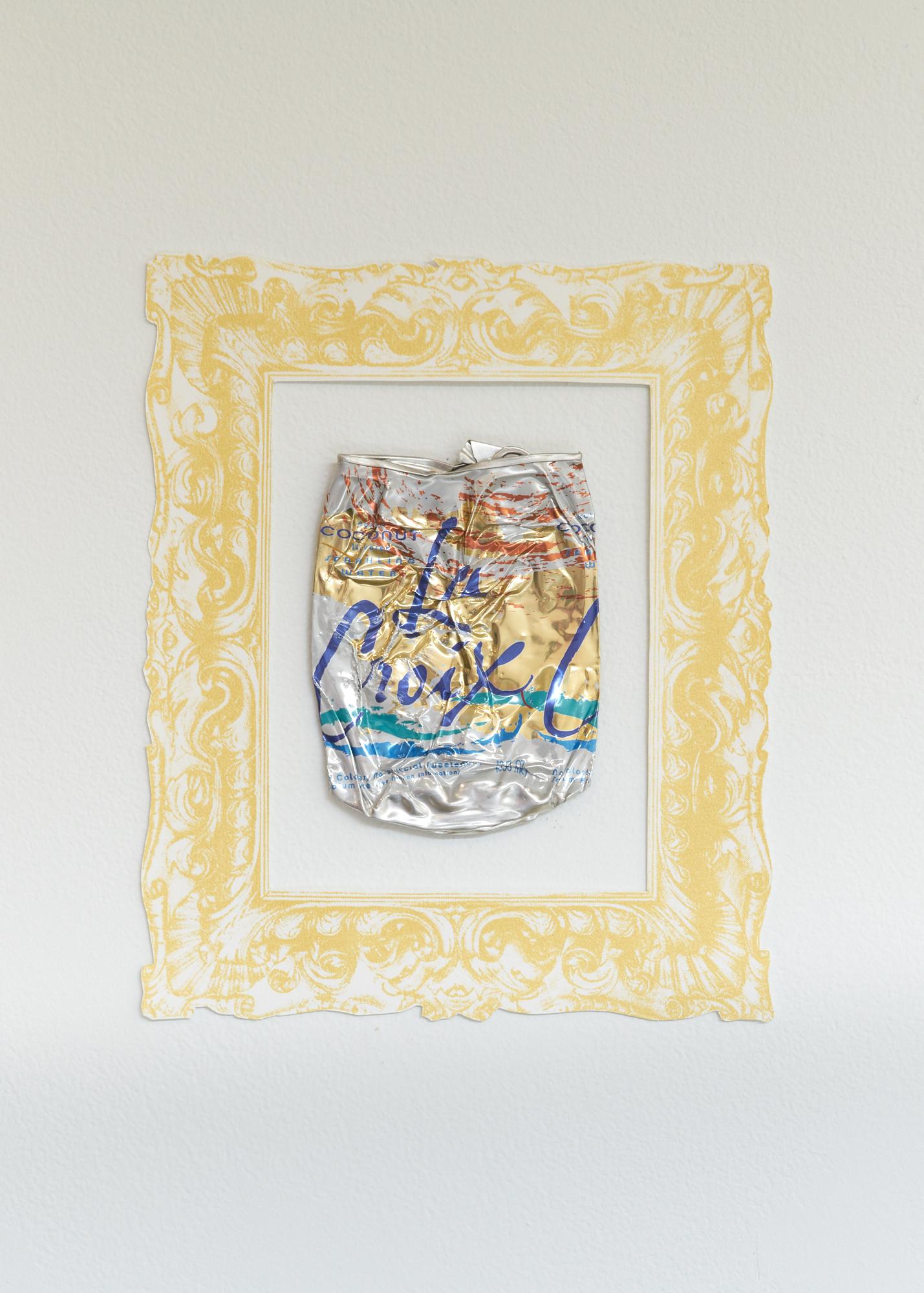 Framed La Croix can